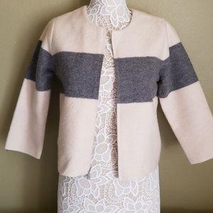 Ann Taylor 3/4 wool zip jacket